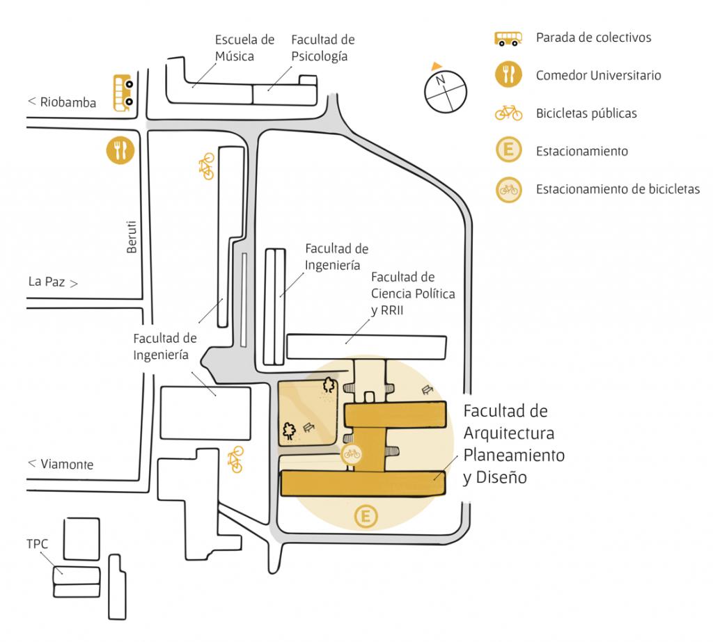 Ubicaci n fapyd for Mapa facultad de arquitectura