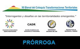 XII Bienal del Coloquio Transformaciones Territoriales