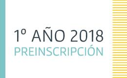 Preinscripción 1º año 2018