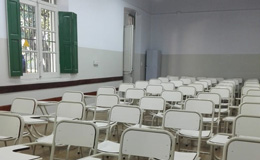 El aula del andén se utilizará para la producción de alcohol en gel