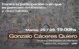 Charla abierta de Gonzalo Cáceres Quiero