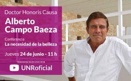 Acto de entrega del título Doctor Honoris Causa UNR al Arq. Alberto Campo Baeza